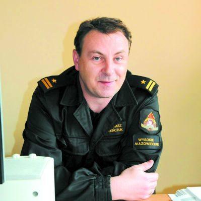 Tomasz Sieńczuk, z-ca komendanta PSP w Wysokiem Mazowieckiem