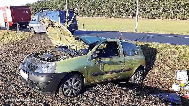 wypadek koło Sulęina