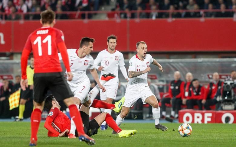 Austria - Polska 0:1. Gol Krzysztofa Piątka