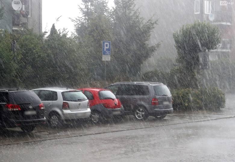 Burza przeszła nad Przecławiem w woj. zachodniopomorskim (29.07.2019)