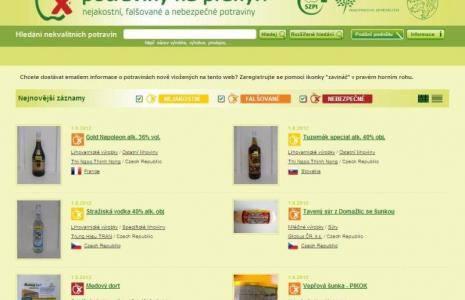 Czeska strona internetowa piętnująca rzekomo źle oznakowaną żywność