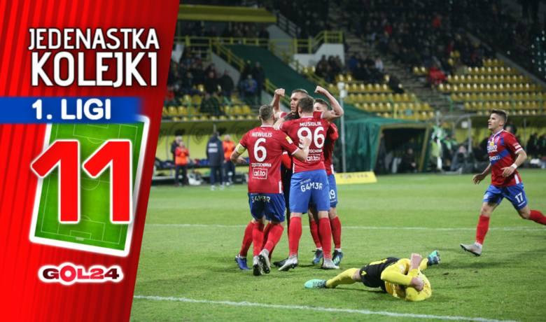 Raków pogrążył GieKSę. Jedenastka 23. kolejki Fortuna 1 Ligi według GOL24!