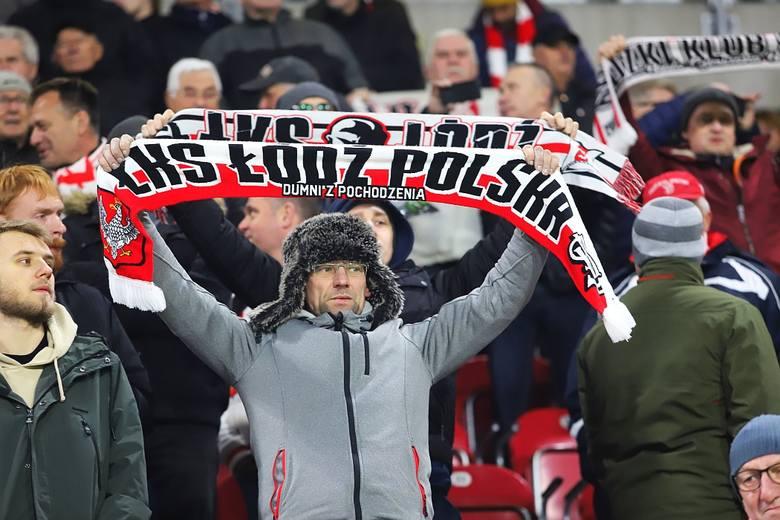 Kibice na meczu ŁKS Śląsk