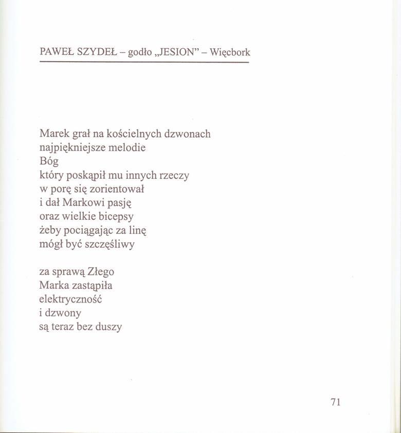 Paweł Szydeł - poeta, prozaik, redaktor, polonista