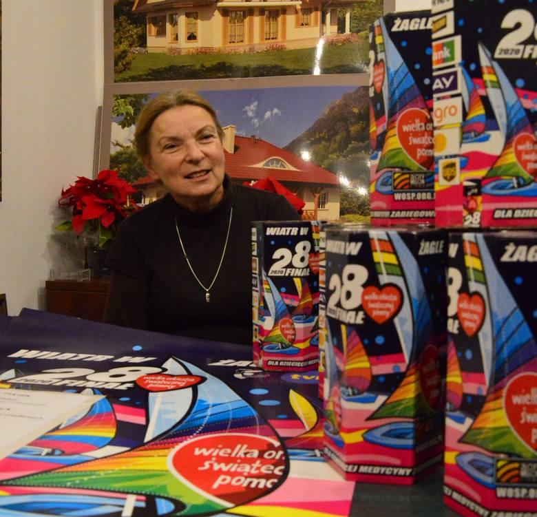 Anna Nodzyńska-Papierz, szefuje myślenickiemu sztabowi WOŚP od lat, a wspiera ją w tym rodzina