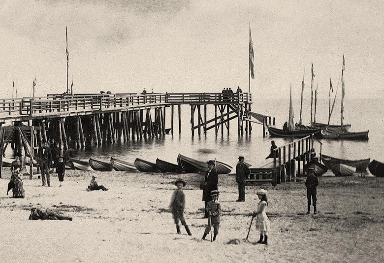 Molo w  1879 roku<br />