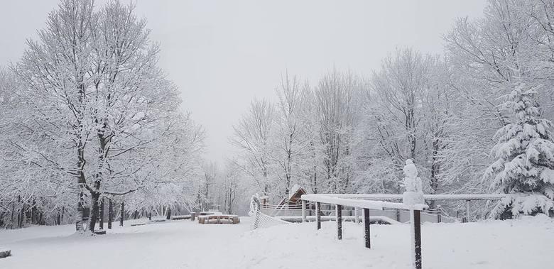 Choć we Wrocławiu o śniegu na razie możemy tylko pomarzyć, wystarczy wybrać się kilkadziesiąt kilometrów na południe, by znaleźć się w prawdziwie zimowym