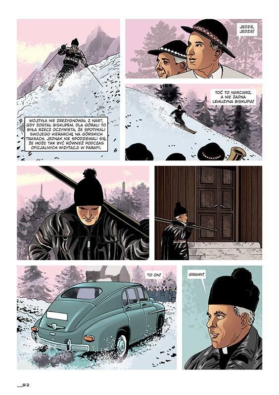 Wybrane strony komiksu o Janie Pawel II