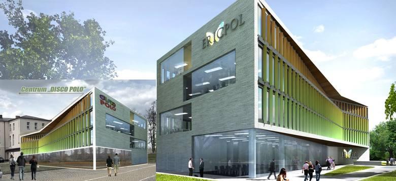 Wizualizacja obecnej siedziby koncernu Ericsson w Łodzi (do 2016 r. ten budynek należał do firmy Ericpol) pojawiła się - jako Centrum Disco Polo - w