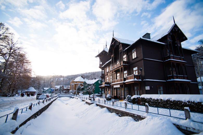 Sanatorium zimą.