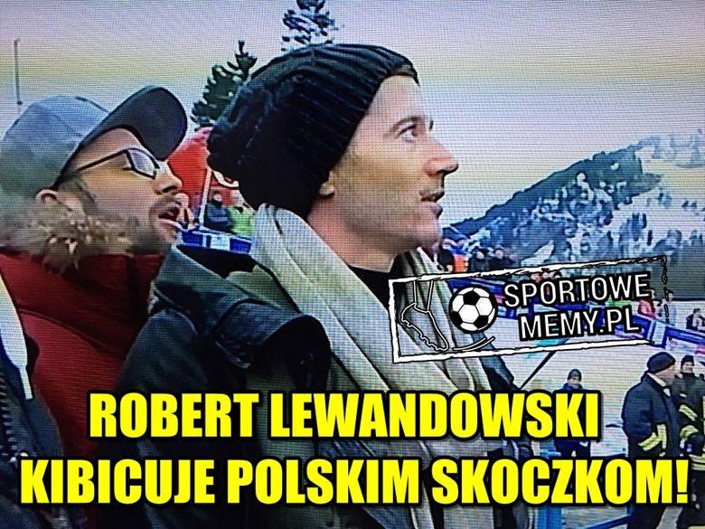 Wczoraj strzelił gola w meczu z Schalke 04 Gelsenkirchen, a dzisiaj pojawił się na konkursie lotów narciarskich w Oberstdorfie. Zobaczcie, jak internauci