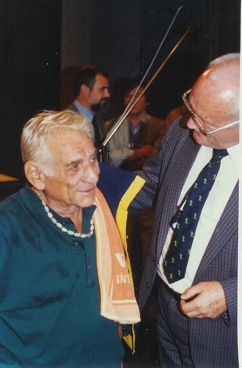 Tak było 25 lat temu. Stefan Stuligrosz i Leonard Bernstein.