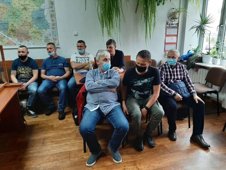"""Podczas zebrania Komisji Międzyzakładowej NSZZ """"Solidarność"""" w MAN Bus Starachowice"""