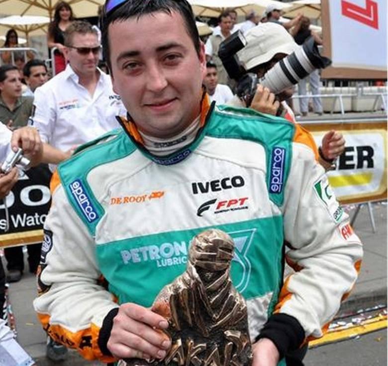 28-letni Darek Rodewald był w składzie holenderskiej ekipy Team de Rooy, która 9-tonowym Iveco Powerstar Strator Torpedo wygrała 34. Rajd Dakar w kategorii
