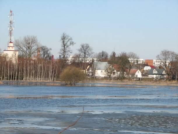 Tak wylała rzeka Biała w Bielsku Podlaskim