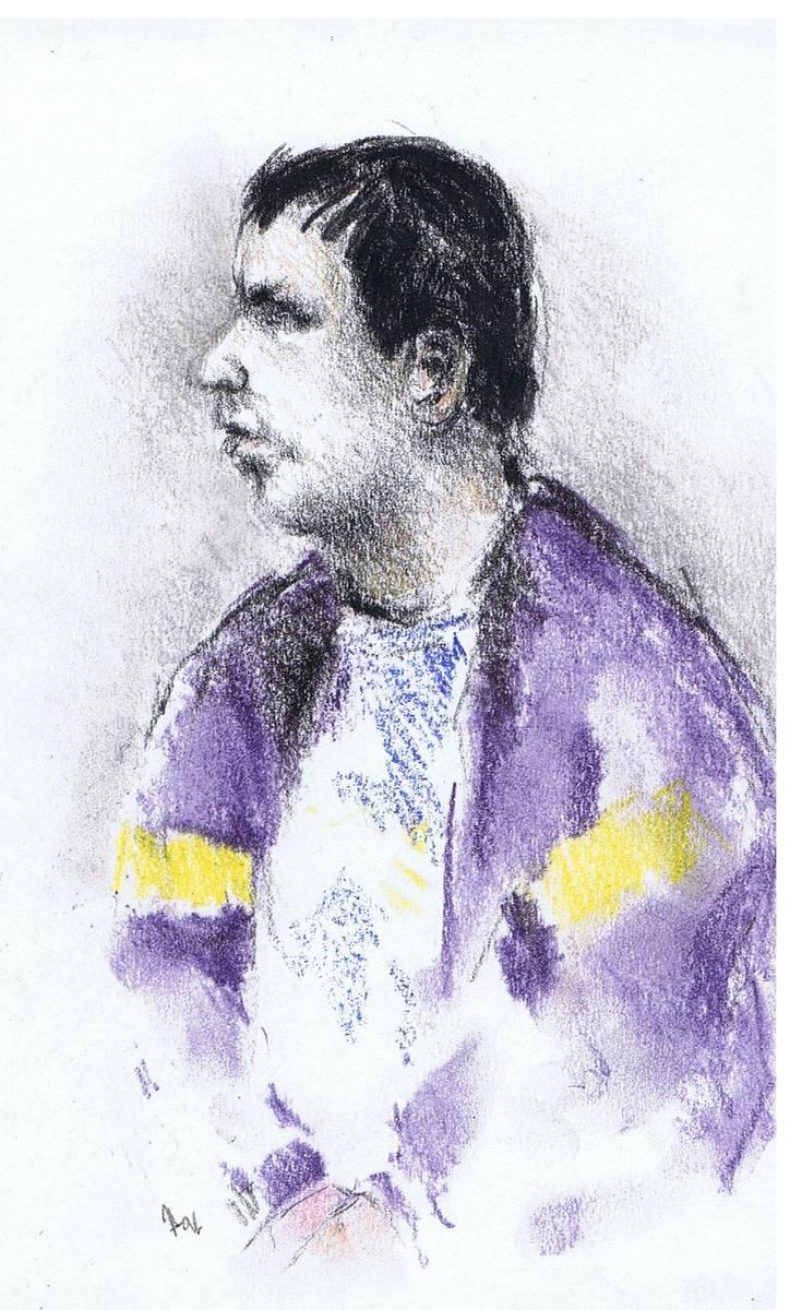 Leszek Pękalski podczas swojego procesu. Miał wówczas 28 lat.