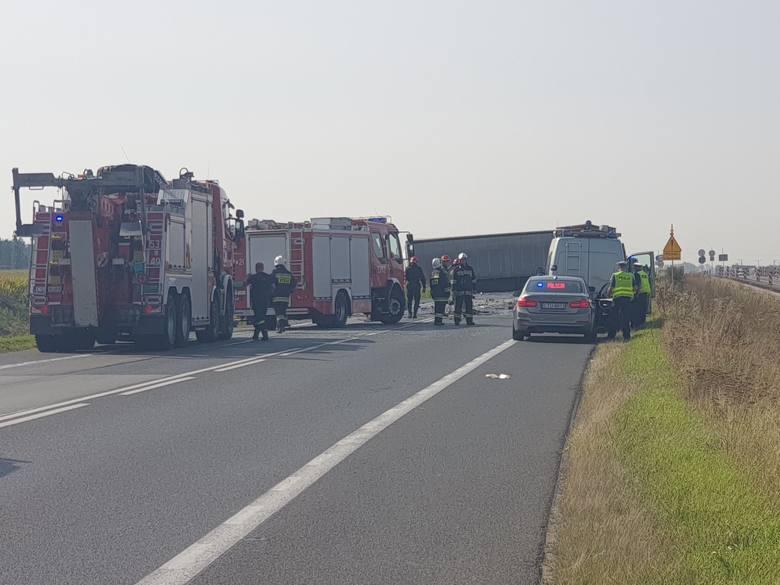 Śmiertelny wypadek na DK5 w Luszkowie pod Świeciem. Są utrudnienia w ruchu