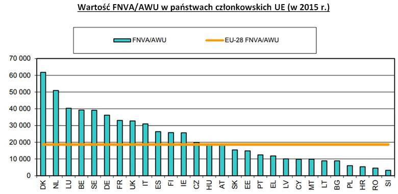 Średni dochód z gospodarstw rolnych UE. Polska wciąż daleko w zestawieniu