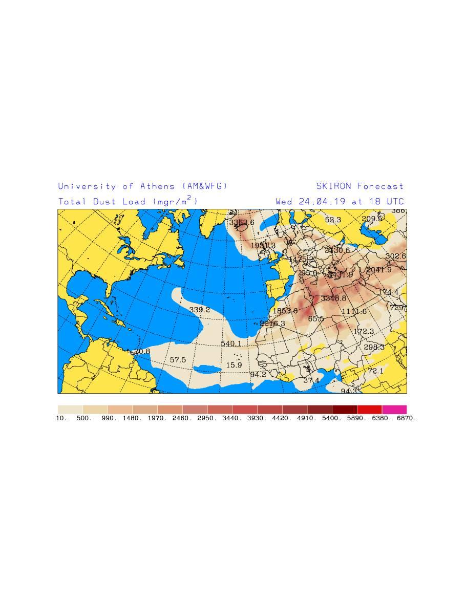 Występowanie pyłu saharyjskiego w czwartek 25 kwietniaW czwartek pyły będą unosiły się nad środkową, wschodnią i południowo-wschodnią Europą. Saharyjski