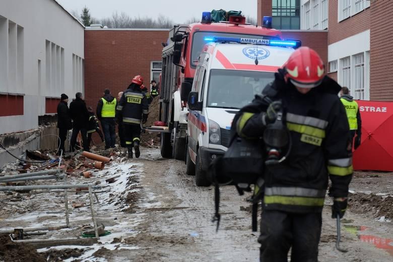 Politechnika Białostocka. Śmiertelny wypadek przy budowie. Nie żyje 30-latek (zdjęcia, wideo)