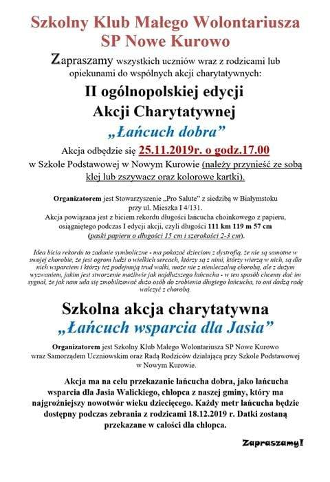 Akcję dla Jasia szykuje SP w Nowym Kurowie