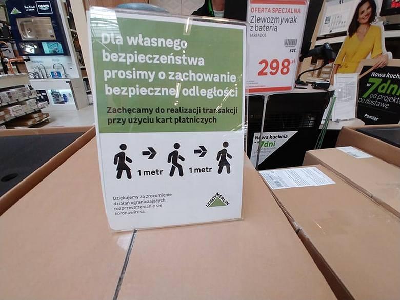 Koronawirus w Białymstoku. Hipermarkety budowlane dbają o bezpieczeństwo klientów