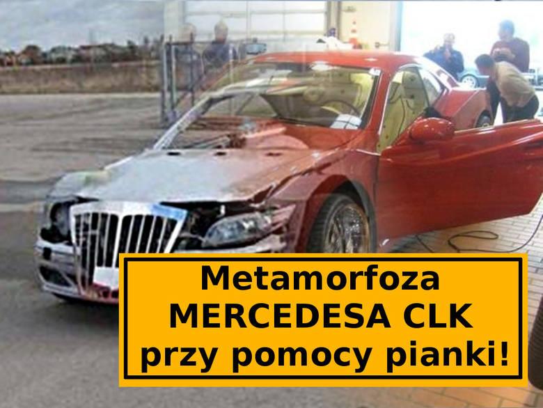 Pewien Litwin wpadł na ciekawy pomysł. Postanowił odrestaurować wrak mercedesa CLK przy użyciu pianki montażowej. Przy jej pomocy nadał samochodowi kształt,