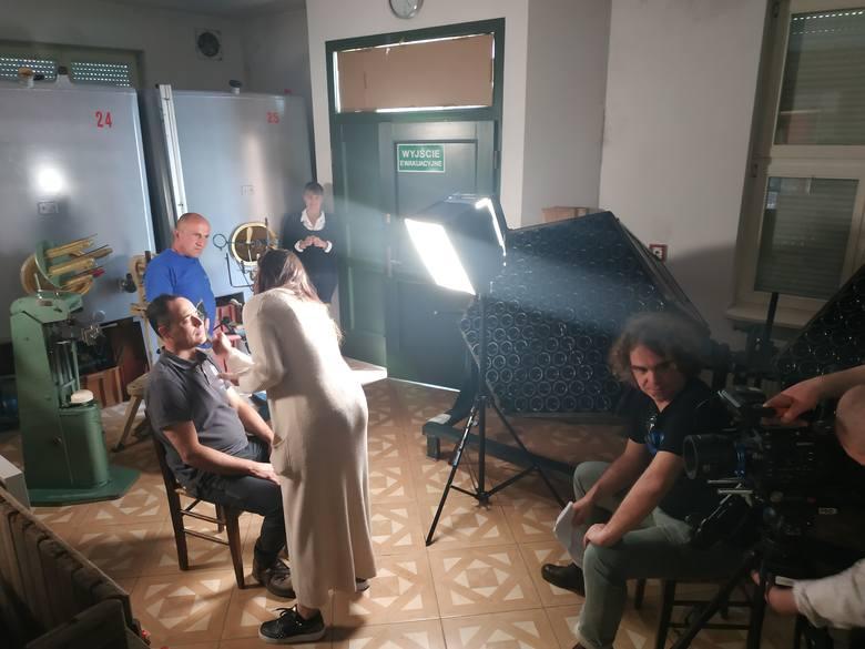 """Filmowcy przygotowujący film """"Polska Toskania"""" nagrywali już pierwsze rozmowy. M.in. w Winnicy Gostchorze"""