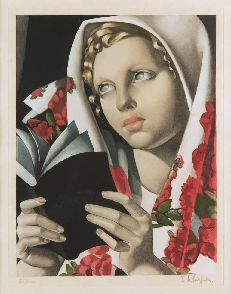 10. Tamara de Lempicka, La Polonaise, 1933, akwatinta na papierze, 34,5 x 26,5 cm, z kolekcji Marka Roeflera/Villa la Fleur, fot. Marcin Koniak