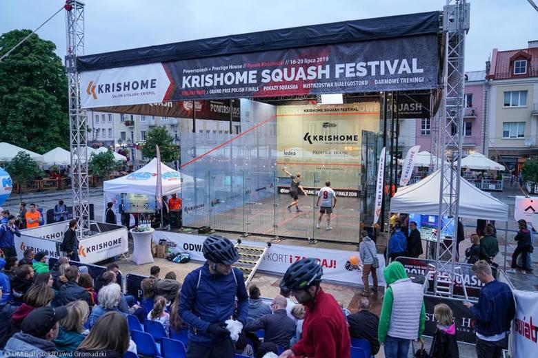 Pierwszy dzień Krishome Squash Festival w Białymstoku za nami. Zobaczcie jak grał Piotr Misiło - rekordzista Guinnessa, który w 2015 r. rozegrał aż 100