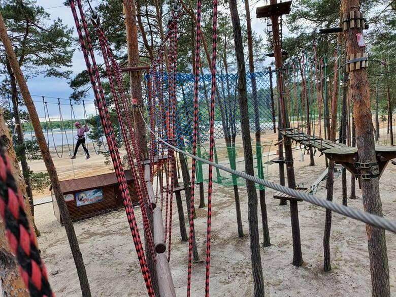 Park Linowy KAMRAT  Sielpia Wielka, ul. Spacerowa /wzdłuż pierwszej plaży/