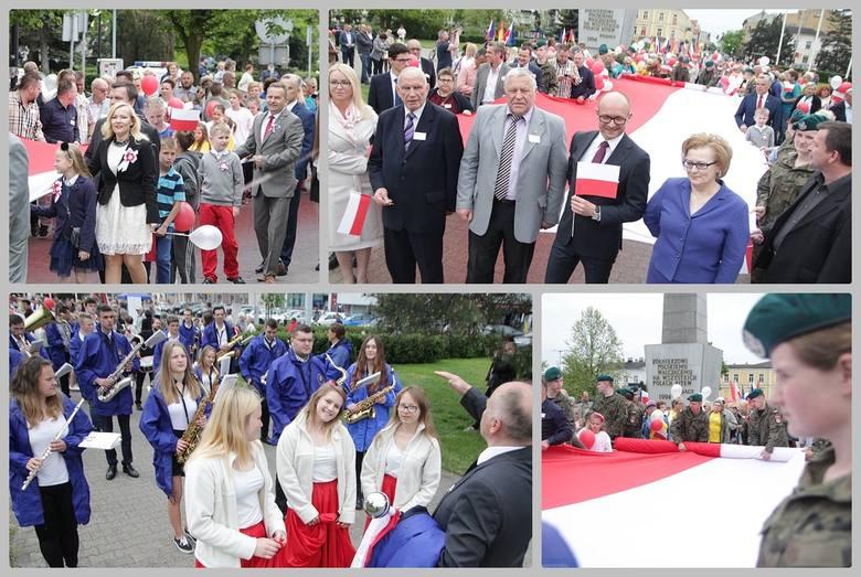 W środę, 2 maja, w samo południe z pl. Wolności wyruszyli uczestnicy Dnia Flagi we Włocławku. Ponieśli stumetrową biało-czerwoną flagę ul. 3 Maja do