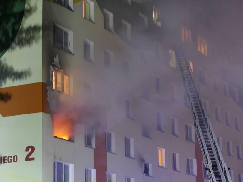Pożar w wieżowcu w Koszalinie