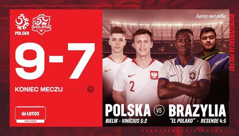 Polacy pokonali Brazylijczyków w FIFA 20. Krystian Bielik rozbił gwiazdę Realu Madryt [WIDEO]