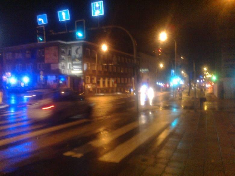 Potrącenie na ulicy Sienkiewicza w Białymstoku