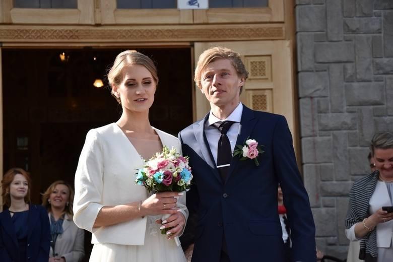 1 maja 2019 roku - Dawid Kubacki poślubił w podhalańskim sanktuarium na Bachledówce Martę Majcher.