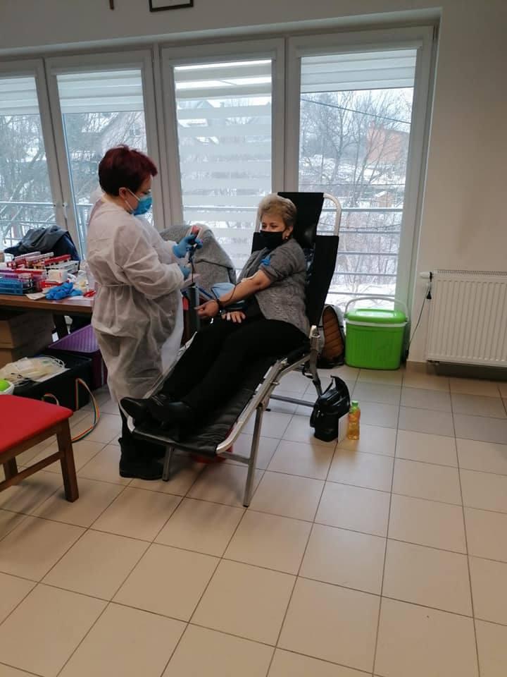 Akcja krwiodawstwa organizowana przez strażaków ochotników z OSP Bibice