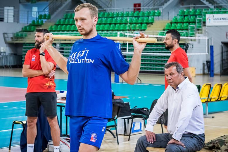 Trening siatkarzy Łuczniczki - pierwszy pod wodzą nowego trenera