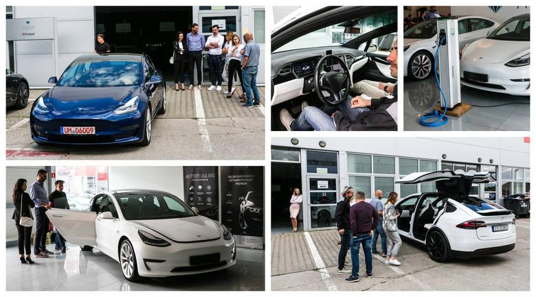 Szczecińska premiera i testy auta Tesla 3 [ZDJĘCIA]