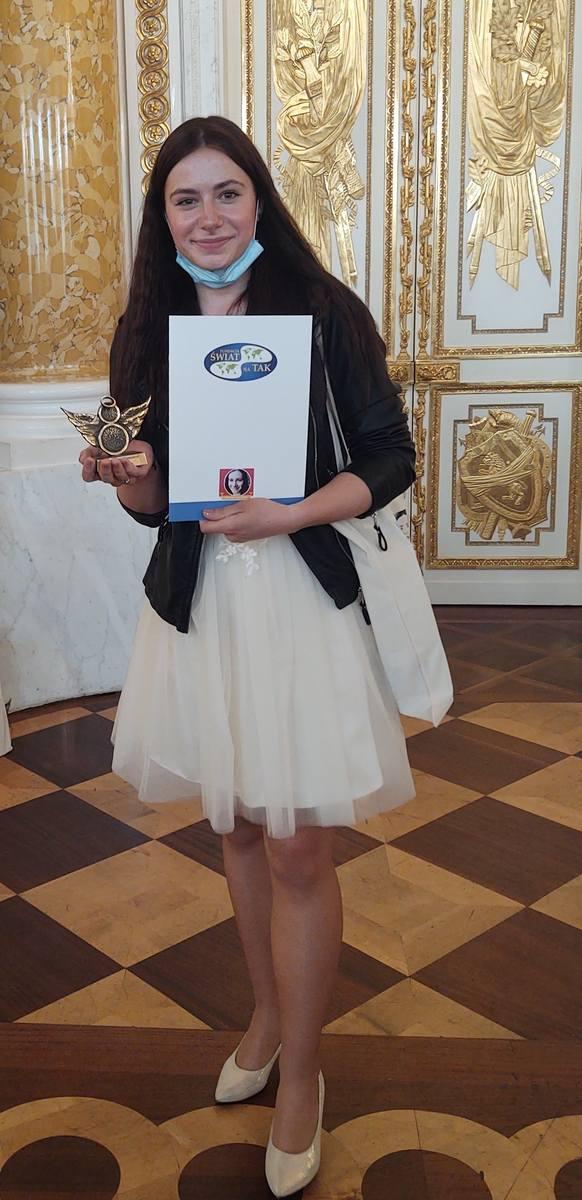 Weronika Stanik z Torunia podczas gali Ośmiu Wspaniałych