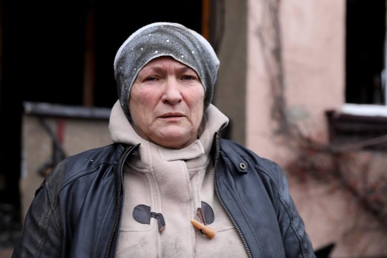 Grażyna Kostrzewa z Piotrkowa w pożarze straciła cały dobytek