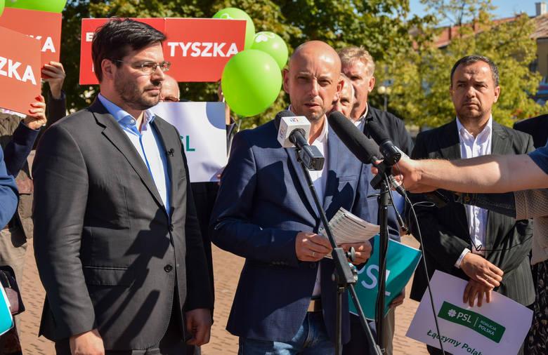 Kandydaci komitetu PSL - Koalicja Polska zaprezentowali się w Tarnobrzegu. Kto startuje?