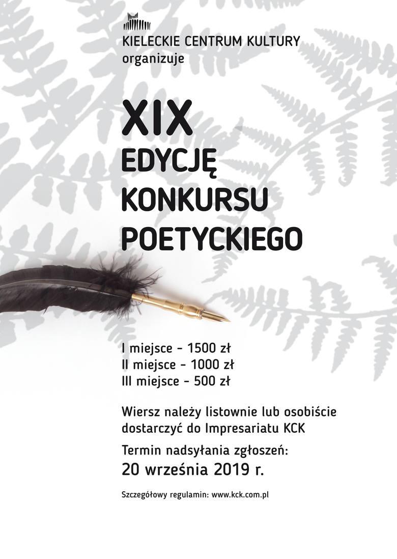 Xix Konkurs Poetycki Zgłoś Się Do 20 Września Cenne
