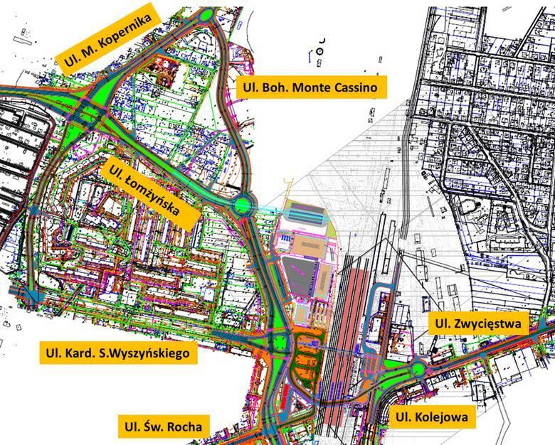 Intermodalny Węzeł Komunikacyjny Białystok (takie były plany w 2016 roku)