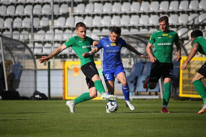 Górnik Łęczna przegrał w Legnicy. Trzeci mecz z rzędu bez gola zielono-czarnych. Zobacz zdjęcia
