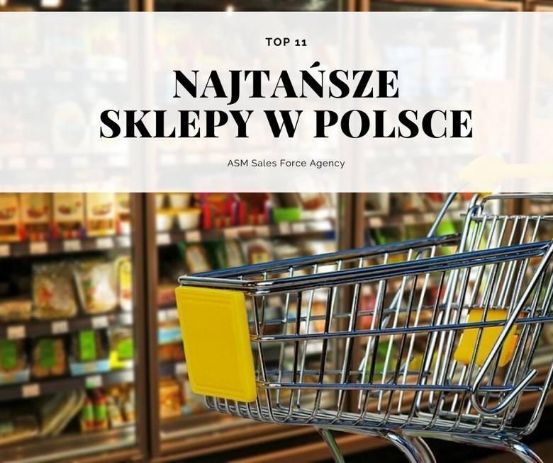 Najtańsze i najdroższe sklepy w Polsce 2019. Gdzie zapłacimy najmniej za koszyk najpopularniejszych produktów (nabiału, mięsa i wędlin, napoi, dodatków,