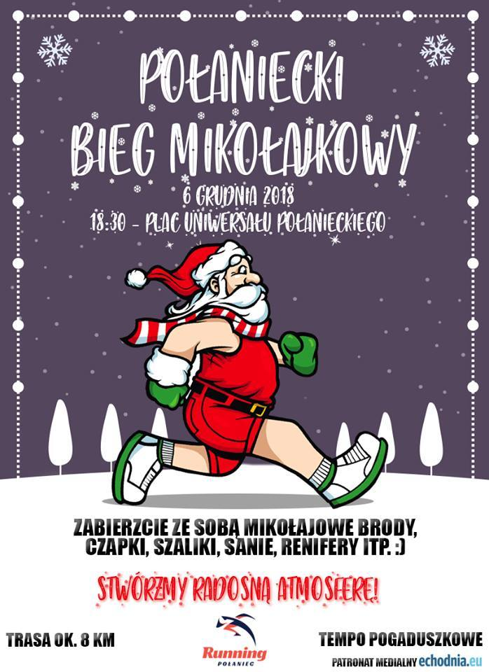 Połaniecki Bieg Mikołajkowy już 6 grudnia. Wziąć może udział każdy - będą medale z pierniczków [SZCZEGÓŁY]