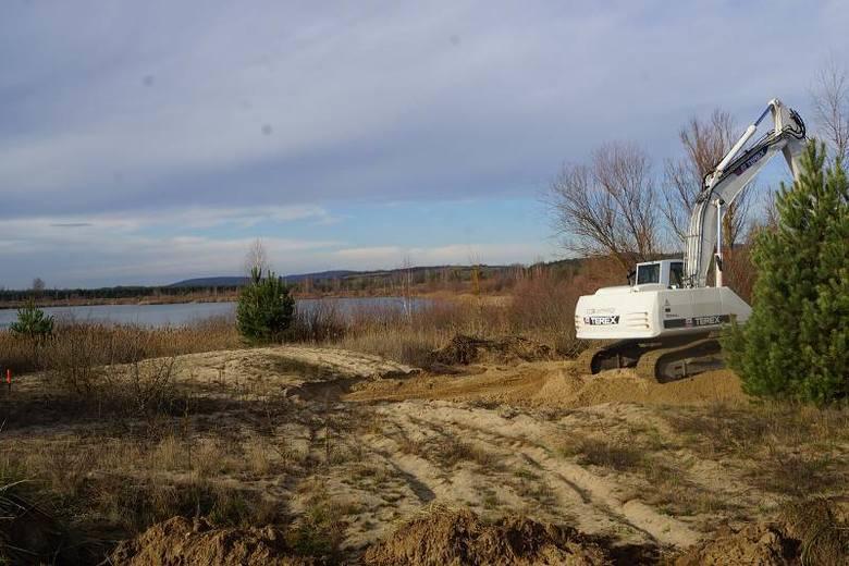 Prace budowlane nad zalewem w Lipowicy