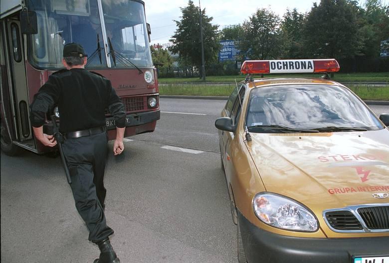 Ćwiczenia ochrony autobusów MPK - 2000 rok