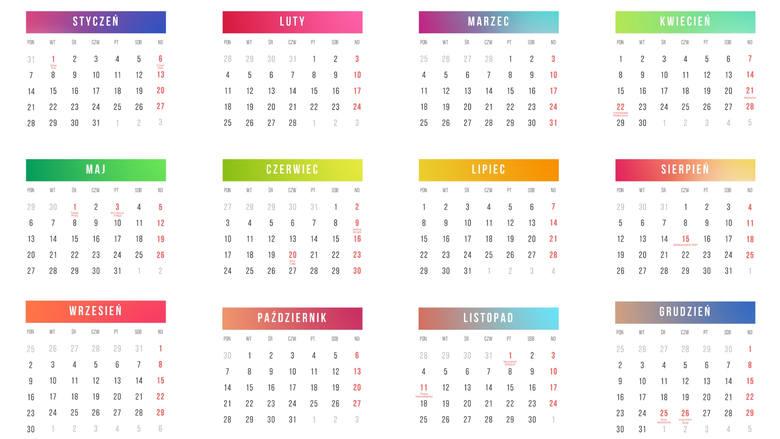 KALENDARZ DNI WOLNYCH 2019 - kiedy wziąć wolne, by mieć dłuższy urlop? POBIERZ ONLINE